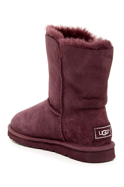 Ugg Boots On Sale Nordstrom Rack by Ugg Australia Bailey Button Bling Genuine Shearling Boot