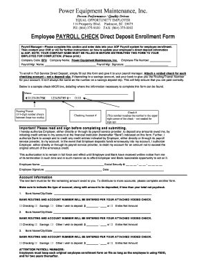 Adp Direct Deposit Form Word Fill Online Printable Fillable Blank Pdffiller Adp Direct Deposit Form Template