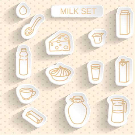 design milk sticker milk stickers vector set vector label free download