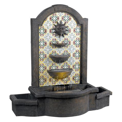 backyard fountains lowes shop kenroy home cascada indoor outdoor with