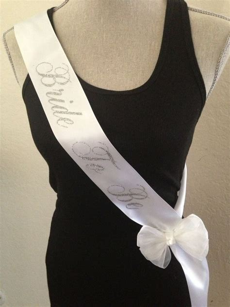 Paket Selempang Bridal Shower To Be Sash Medium Tiara Crown bachelorette sash to be sash satin sash by sexylittlebrides 12 00 s bachelorette