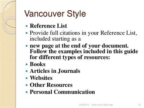 book reference generator vancouver vencouver styleppt