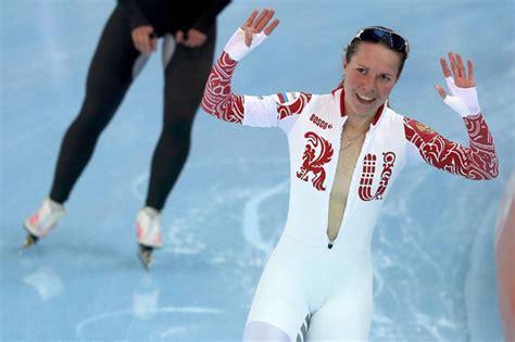 Wardrobe At Olympics by Sochi 2014 Speed Skater Olga Graf Avoids Embarrassing