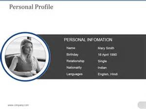 Powerpoint Template For Biography A2b1a37b0c50 Proshredelite Personal Bio Powerpoint Template