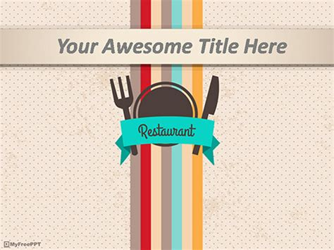 templates powerpoint restaurant free cafe powerpoint templates myfreeppt com