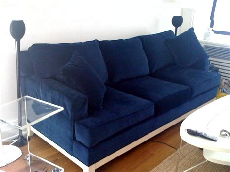 navy blue velvet sofa sketch42 ensconced in velvet navy blue