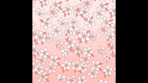 pattern design youtube 벚꽃 패턴 디자인 벚꽃 그리기 cherryblossom pattern design youtube
