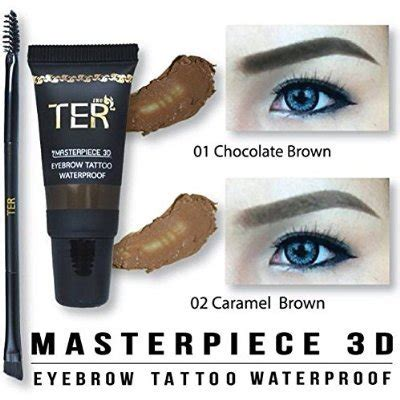 3d eyebrow tattoo price ter masterpiece 3d eyebrow waterproof 01 chocolate