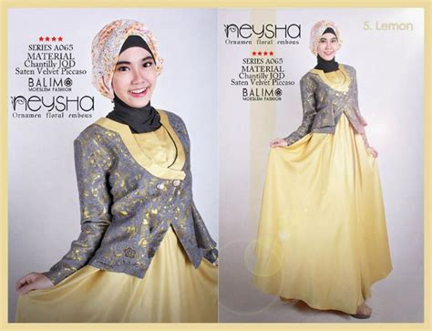 Gamis Syar I Cantik Saffa Syar I Lemon Murah balimo neysha lemon baju muslim gamis modern