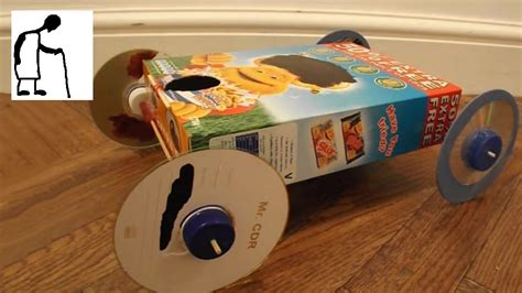 How Do You Make A Car Out Of Paper - cereal box rubber band powered car