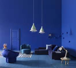 blue wall living room splashes of colour in white interiors