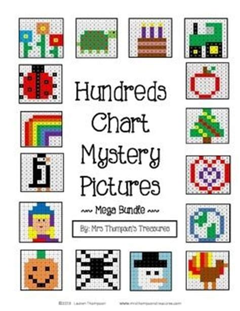free printable hundreds chart mystery pictures place value hundreds chart fun mystery picture