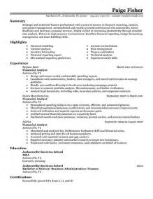 Healthcare Financial Analyst Cover Letter by Resume Financial Analyst Resume Sle Entry Level Financial Analyst Resume Financial