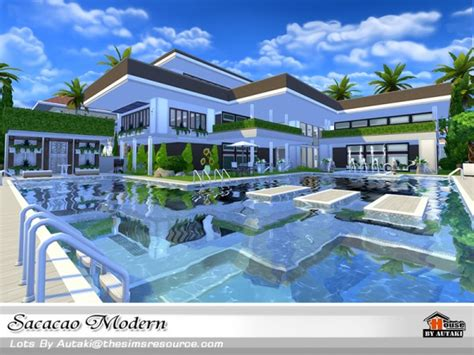 by erin l on hobbies sims house building inspiration pinterest the sims resource sacacao modern house by autaki sims 4