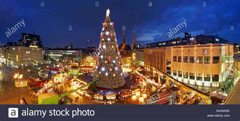 dortmund germany the worlds largest christmas tree on the