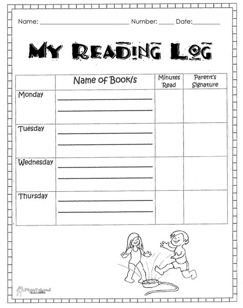 printable reading logs for 5th graders 5th grade reading log printable 1st grade reading log