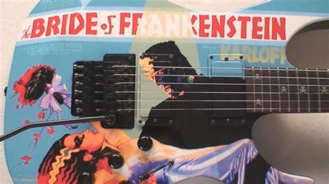 kirk hammett mummy guitar decal kirk hammett esp quot bride of frankenstein quot guitar youtube