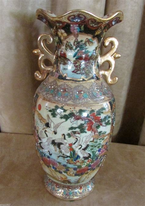 royal satsuma vase royal satsuma vintage vase japan porcelain urn china gold