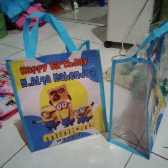 Tas Ultah Souvenir Safa Banner Unik 2 tas ultah tas undangan pernikahan murah tas kartun