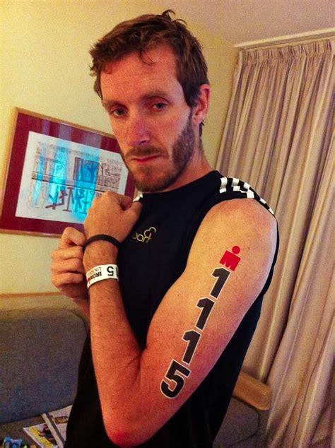 triathlon tattoo numbers ironman race tattoos images