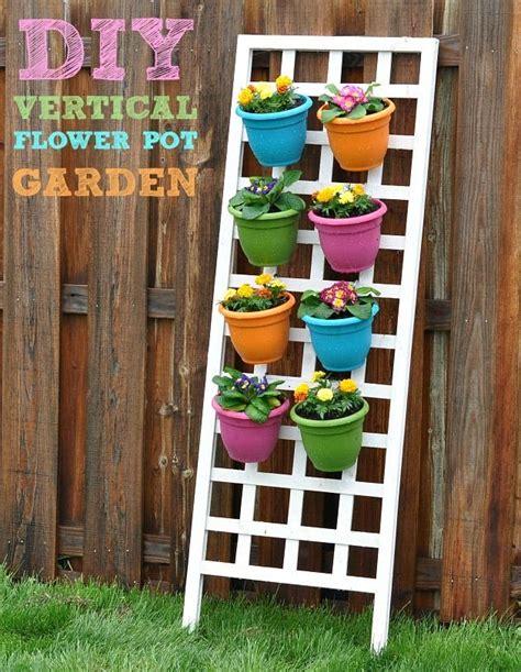 Diy Vertical Flower Pot Garden For The Home Pinterest Diy Flower Garden