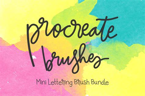 Procreate Lettering 4 Brush Bundle Brushes On Creative Market Free Procreate Templates
