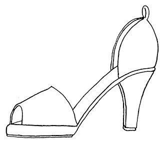 High Heel Shoe Template Craft by High Heel Paper Shoe Template Template