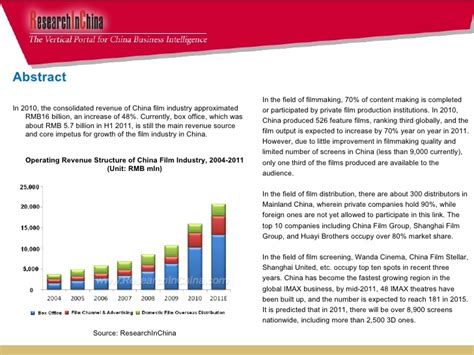 film production in china china film industry report 2011