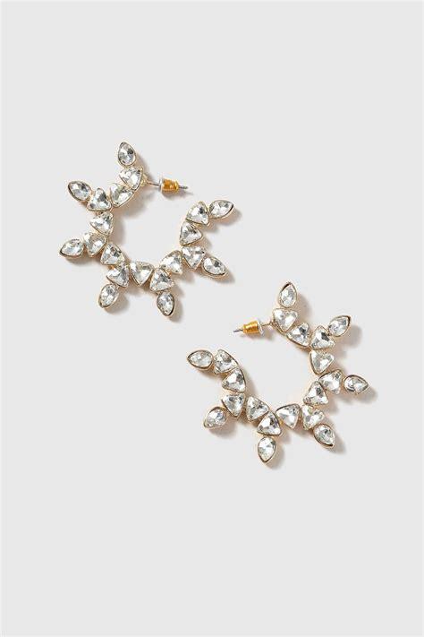Rhinestone Hoop Earrings rhinestone hoop earrings topshop
