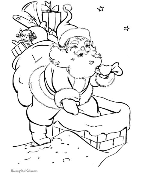 santa coloring pages 2015