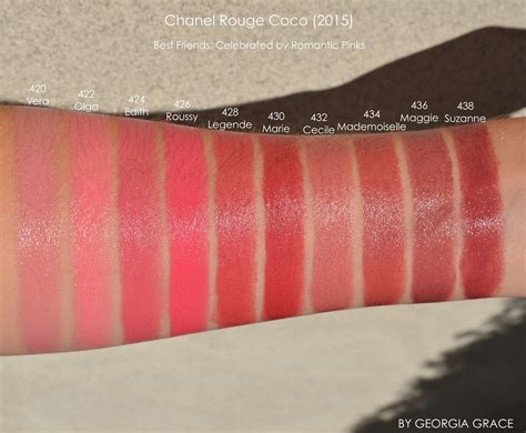 Shades Of Purple Chart by Chanel Rouge Coco Swatches Of All Shades By Georgia Grace