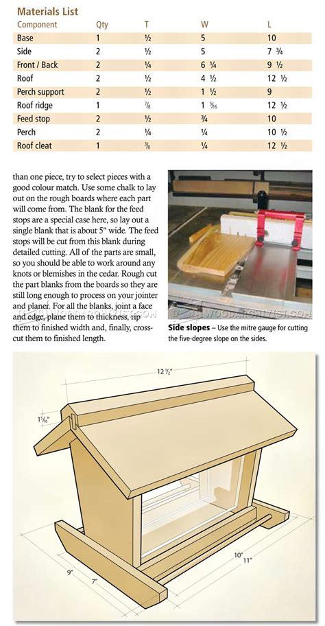 free bird feeder woodworking plans bird feeder plans woodarchivist