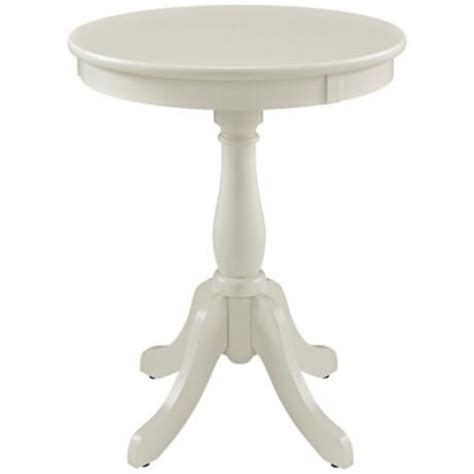 round white accent table louisa white round accent table