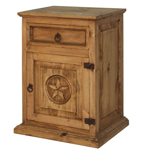 rustic wood nightstand  texas star mexican rustic furniture  home decor accessories