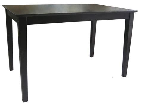48 kitchen table internationa concepts 30 quot x 48 quot solid wood top shaker styled table java home furniture