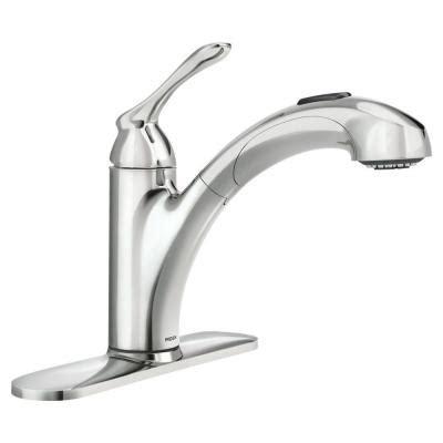moen banbury pull out kitchen faucet moen banbury single handle pull out sprayer kitchen faucet