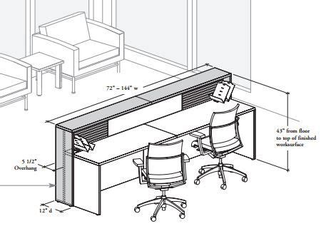typical desk size reception desk dimensions pinterest reception desks