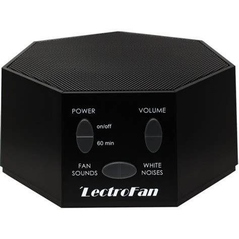 sound machine with fan noise lectrofan white noise and fan sound machine black