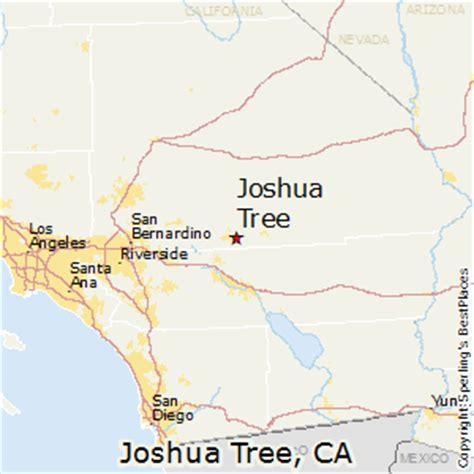 california map joshua tree best places to live in joshua tree california