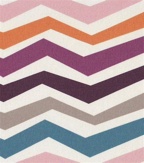 54 home decor value print fabric stretch chevron purple