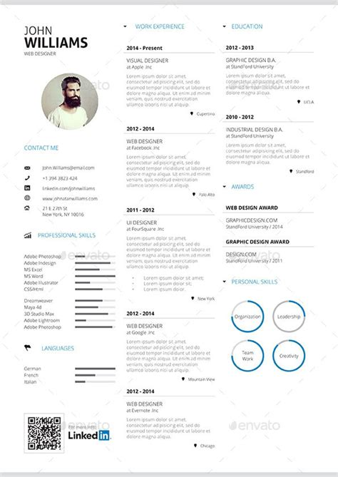 simple resume vol 2 by paolo6180 graphicriver