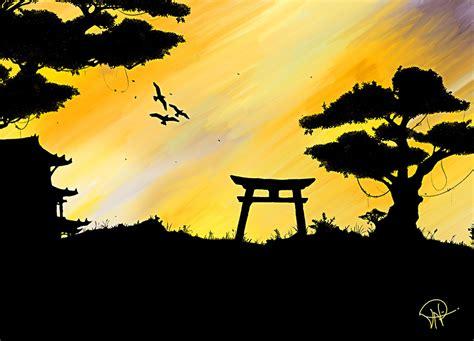 experimental japanese painting  shadek  deviantart