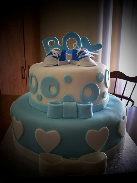Fondant Baby Shower Cake by Baby Shower Fondant Cake