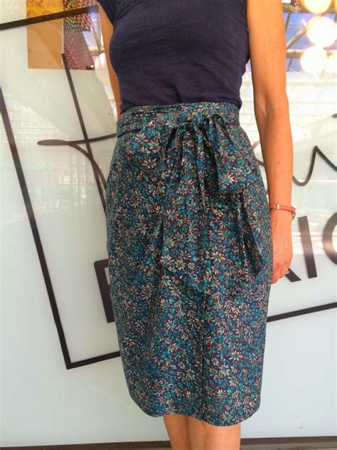 pattern review skirts pattern review vogue 8887 wrap skirt in liberty tana