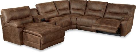 reclining sectional sofas with chaise la z boy dawson casual six piece reclining sectional sofa