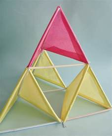 Tetrahedron Kite Template by Craft Tutorials Galore At Crafter Holic Tetrahedral Kite Diy