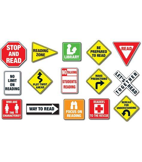 reading road signs bulletin board set grade k 5 carson