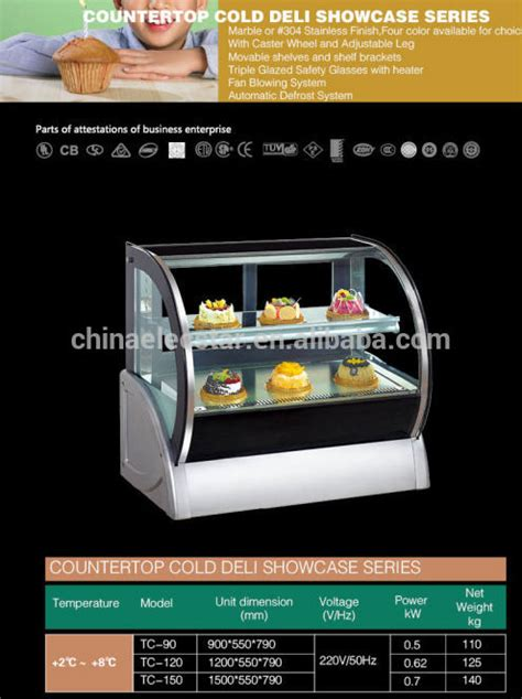 Countertop Cake Display Fridge by Countertop Curve Glass Refrigerated Cake Display Cases