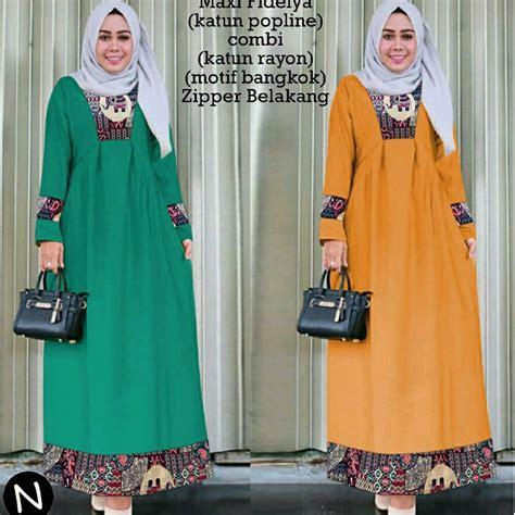list harga model baju batik tunik muslim terbaru januari
