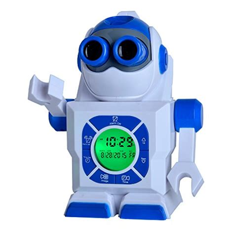 kingstar  robot led projection alarm clock portable